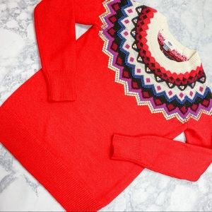 Old Navy Red Sequin Knit Sweater